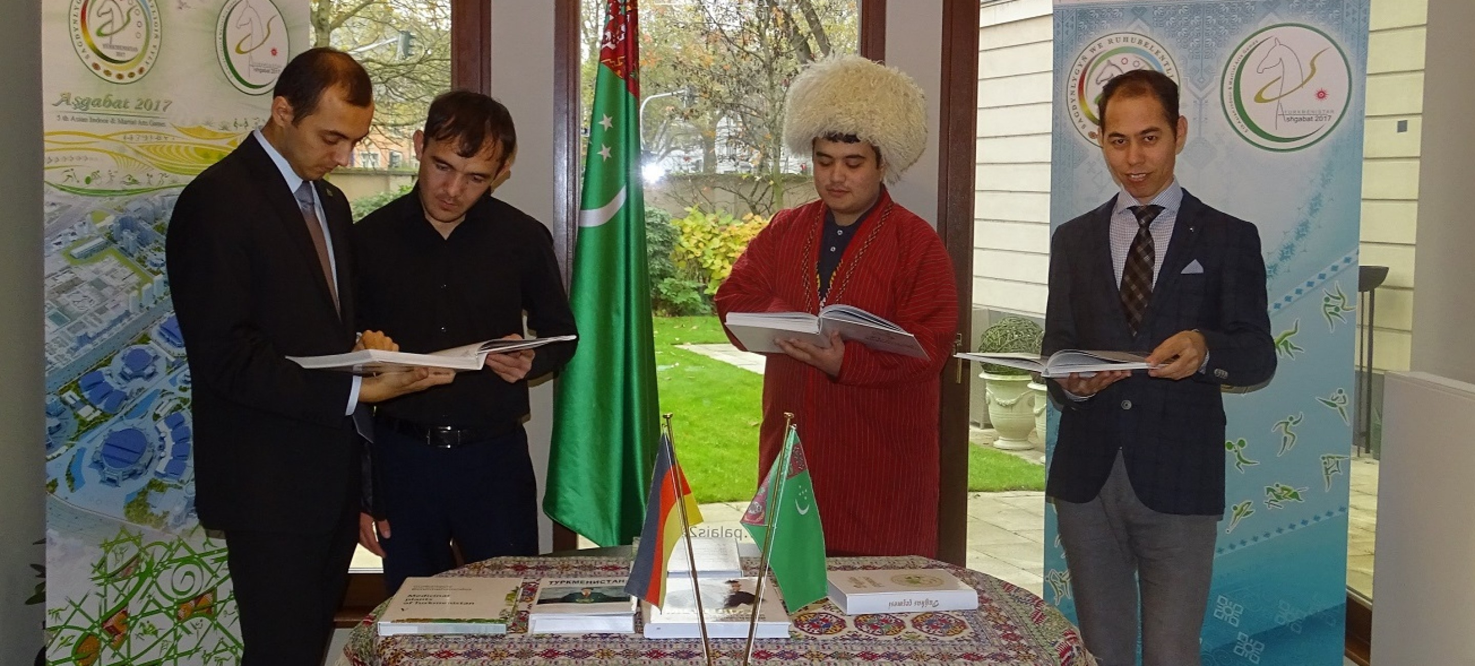 PRESENTATION OF THE BOOK OF THE PRESIDENT OF TURKMENISTAN, EXHIBITION AND THE DAY OF OPEN DOORS WAS HELD IN FRANKFURT AM MAIN