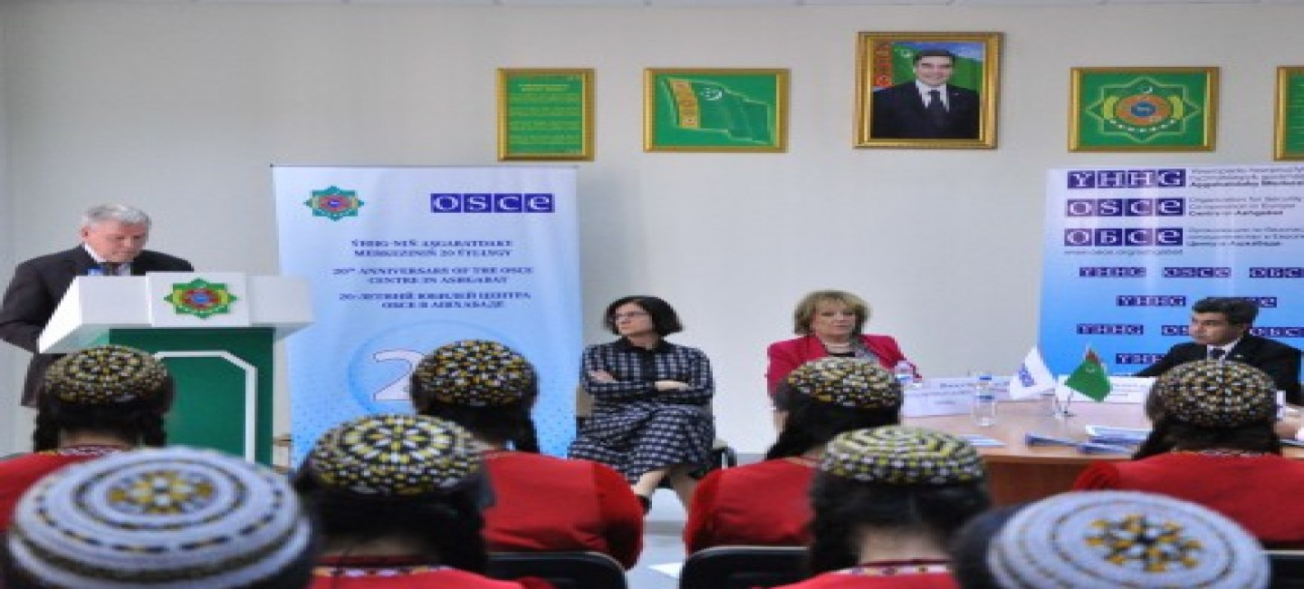 Lecture series focusing on the OSCE's history, values and its work held at the Institute of International Relations of the MFA of Turkmenistan